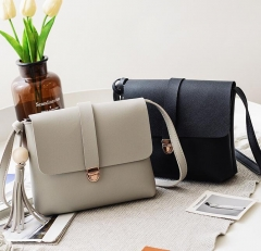 Fashion 2018 Small Chains Bag Women Candy Color Tassel Messenger Bags Female Handbag Shoulder Bag black one size