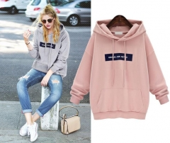 Sweatshirts Female Hoodie Plus Size Sweatshirt Hoodies Women Long Sleeves Hoody Thicken Hooded pink S
