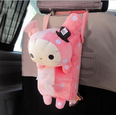 4 Colors Cute Animal Car Tissue Holder Back Hanging Tissue Box Covers Napkin Paper Towel Box Holder long rabbit one size