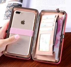 Women Wallets Purses Wallet  Credit Card Holder Clutch Coin Purse Cellphone Pocket Gifts Money Bag black 18*10*2.5cm