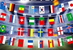 2018 Russian World Cup Football Soccer 32 Team National Flag Country World Banner String Flag as picture 14*21cm
