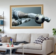 2018 Home Decor World Cup Russia Wall Sticker 3D Football Removable For Teens Soccer Fans Stickers style 1 as picture