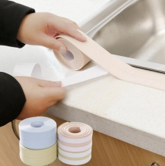 PVC waterproof mildew proof adhesive tape kitchen sink joint crevice sticker corner line stick strip blue 3.2mx3.8cm