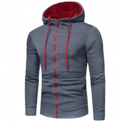Winter Hoodie Male Cardigan Long sleeve hoodies men Zipper Sweatshirt Hooded Plus size Coat Jacket dark gray 3xl