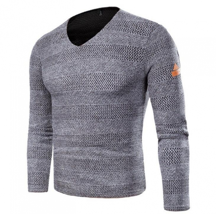 0cc51b97327f4e Solid Color Pullover Men V Neck Sweater Long Sleeve Shirt Sweaters Casual  Dress Brand Knitwear Pull