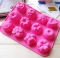 1pc Round Shape 12 Holes Mould Silicone Party Cake Cookie Candy Chocolate Maker Baking Tool Tray orange as picture