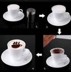 Hot 16pcs Plastic Fancy Coffee Printing Model Foam Spray Template Barista Stencils Decoration Tool 16pcs/lot as picture