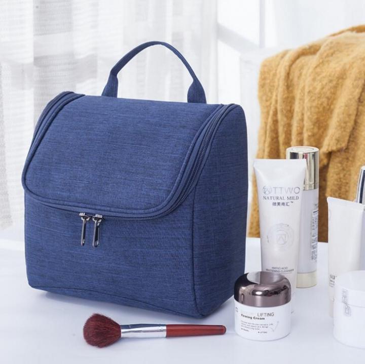 Neceser Zipper Makeup Cosmetic bag beauty Case Organizer Toiletry bag kits  Storage Travel Wash pouch dark 9ab52f48de5d2