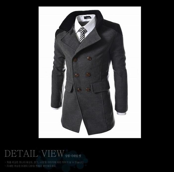 ff6ac38f481 Mens Trench Coat 2018 New Fashion Designer Men Long Coat Autumn Winter  Double-breasted Windproof Slim Trench Coat Men Plus Size