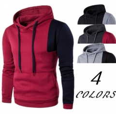 New 2018 Autumn Winter Fleece Raglan Sweatshirts Print Streetwear Hoodies Men Fashion Tracksuit black m