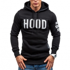 2018 Hoodies Men Hombre Hip Hop Solid hooded zipper Hoodie Cardigan Sweatshirt Slim Fit Hoody black l