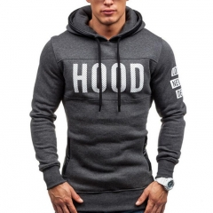 2018 Hoodies Men Hombre Hip Hop Solid hooded zipper Hoodie Cardigan Sweatshirt Slim Fit Hoody dark gray 3xl