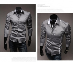 New Arrived 2018 mens work shirts Brand Long sleeve striped men dress shirts white male shirts 3xl black m