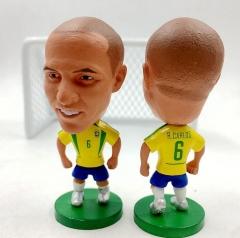 Soccerwe International Soccer Star Player Lovely Action Figure Model Toys Football Dolls Kids Gift 3. Memorial carlos 6.5cm