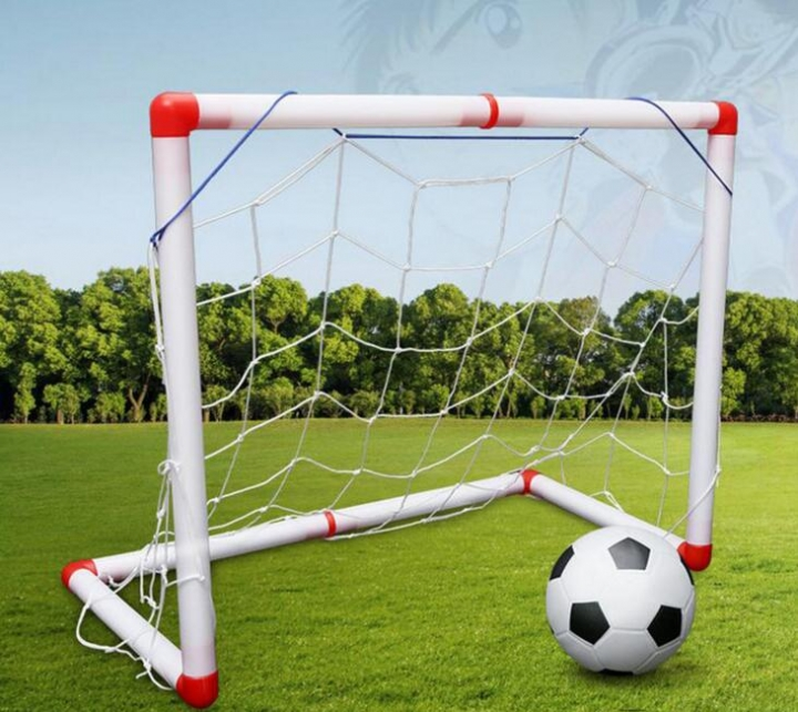 Portable Children Outdoor Toys Folding Kids Football Goal Door Set Football Gates Soccer Door Set 56CM as picture