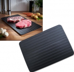 Defrost Tray Thaw Frozen Food Meat Fish In Minutes Home defrosting tray No Electricity Chemicals black 23*16.5*0.2cm