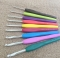 Aluminum Crochet Hooks Knit Needles Multi Color Comfort Grip Soft Rubber Handle Weave Craft 8pcs/lot as picture