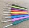 Aluminum Crochet Hooks Knit Needles Multi Color Comfort Grip Soft Rubber Handle Weave Craft 9pcs/lot as picture