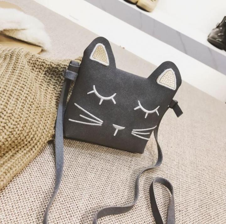 7d460d29588 Mini Cute Cat Ear Shoulder Bag Kids Key Coin Purse Cartoon Lovely Messenger  Bag girl's present