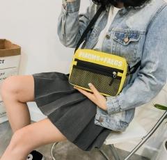 2018 shoulder bags Canvas Travel Bags Organizer Bag for Women Casual Makeup Toiletry Storage black 26*10*16cm