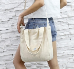 Women Canvas Handbag Printed Shoulder bag Female Large Capacity Ladies Bag Tote Shopping Handbags white 30*28*10cm