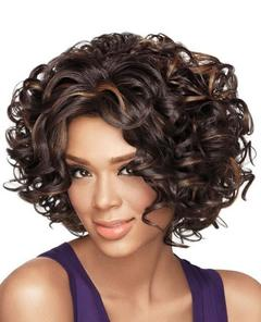 Short Curly Lace Front Human Hair Wigs Brazilian Natural Wave Remy Hair Bob Wig For Black Women as picture as picture