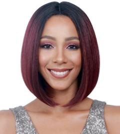 Wig Brazilian Short Bob Lace Front Human Hair Wigs For Black Women Natural Colors Bob Wigs wine red as picture