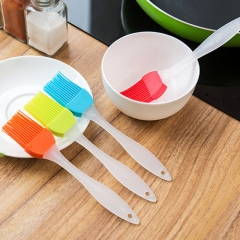 chinacbec Split silicone oil brush crystal handle barbecue brush cake kitchen roasting tool random color as picture