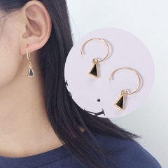 chinacbec Simple geometric triangle ear pin, eardrop, small and exquisite Earring golden as picture