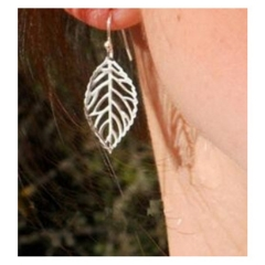 chinacbec Simple metal leaf earring Earrings golden as picture