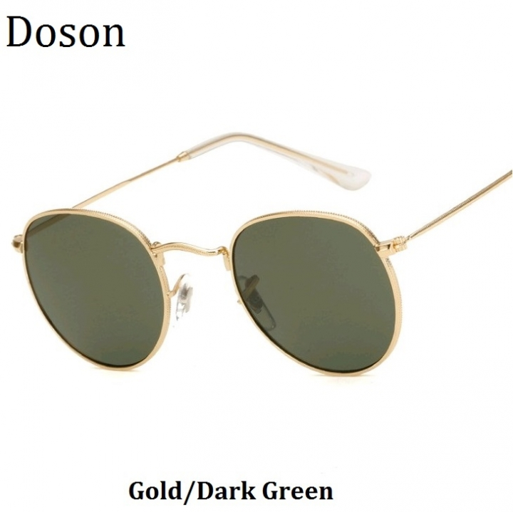 bd1c5b5d6 Luxury Round Vintage Ladies Sunglasses Men Women Alloy Frames Fashion  Driving Sun Glasses Mirror Gold/