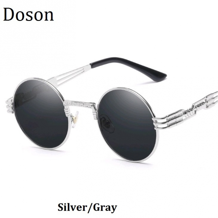 3a318856 Newest Vintage Rounded Mirror Sunglasses Women Men Driving Sun Glasses  Ladies Myopia Glasses Frames Silver/Gray one size