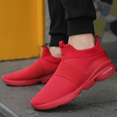 Running Shoes Men New Style Breathable Sneakers Men Light Sport comfortable casual Shoes red 45