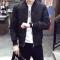 Mens wear Casual Solid Jacket Fashion Slim Bomber Tops Male Baseball windbreaker Jackets Coat black L