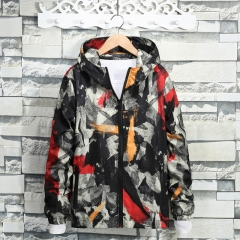 Men's Camouflage Coat Mens Hoodies Casual Jacket Brand Clothing Mens Windbreaker Coats Male red M 50-60kg