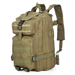3P Tactical Military Backpack Oxford Outdoor Sport Bag for Camping Traveling Hiking Trekking 30L Khaki 30L