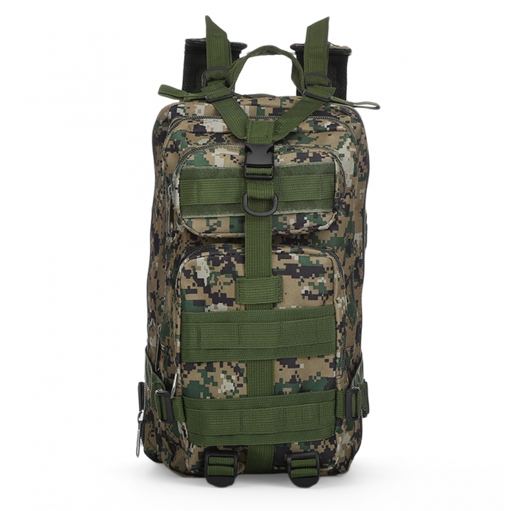 3P Tactical Military Backpack Oxford Outdoor Sport Bag for Camping Traveling Hiking Trekking 30L Digital Jungle 30L