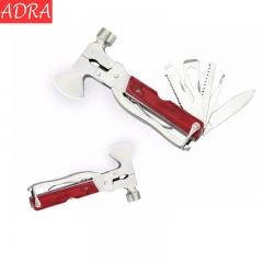 ADRA Multi Purpose Hammer Tools Wooden Handle Outdoor Camping Survival Multi-tool Folding Pliers