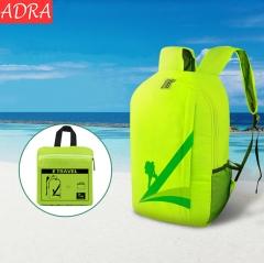 ADRA Outdoor Waterproof Folding Backpack Travel Sports Shoulder Bag Green 20L