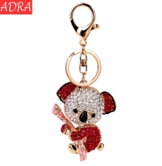 ADRA Fashion Gift  Creative Sloth Bag Alloy Bell Pendant Keychain Accessories