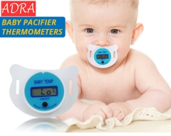 Baby Nipple Thermometer Medical Silicone Pacifier LCD Digital Health Care Thermometer For Children blue nomal