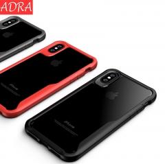 ADRA Phone Drop Resistance Protective Sleeve Phone Case Transparent Shell Black iPhone x