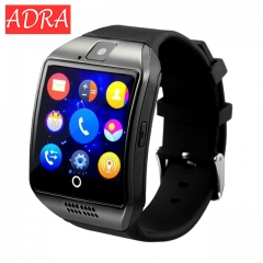Smartwatch Q18 with Touch Screen Camera TF Card 3.0 Version Bluetooth for Android IOS Phone Black