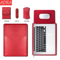 ADRA Macbook Air 12/13/15 inch Protective Cover Apple Laptop Bag Pu Liner Bag