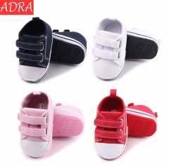 ADRA Rubber Double-layer Velcro Baby Toddler Shoes Baby Shoes Children's Canvas Shoes Blue 11cm