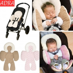 ADRA Head & Body Support Baby Carriage Cushion Child Seat Chair Protection Pink As Pictures