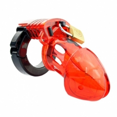 Mens Cock Lock Chastity Device Penis Cage Sex Toys For Men Male Chastity Devices Bird Cages red adjustable