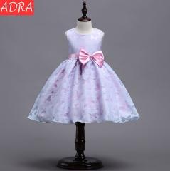 ADRA Children's Dress Princess Dress Mesh Pettiskirt Girl Dress Flower Girl Dress Purple 100CM