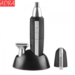 ADRA Electric Nose Hair Machine 2 In One Nose Hair Knife Mute Waterproof Nose Hair Trimmer Black One Size