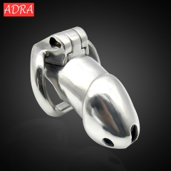 Stainless steel Male Chastity Belt Cock cage Penis Lock chastity device Cock ring sex toys for men short cage 40mm ring